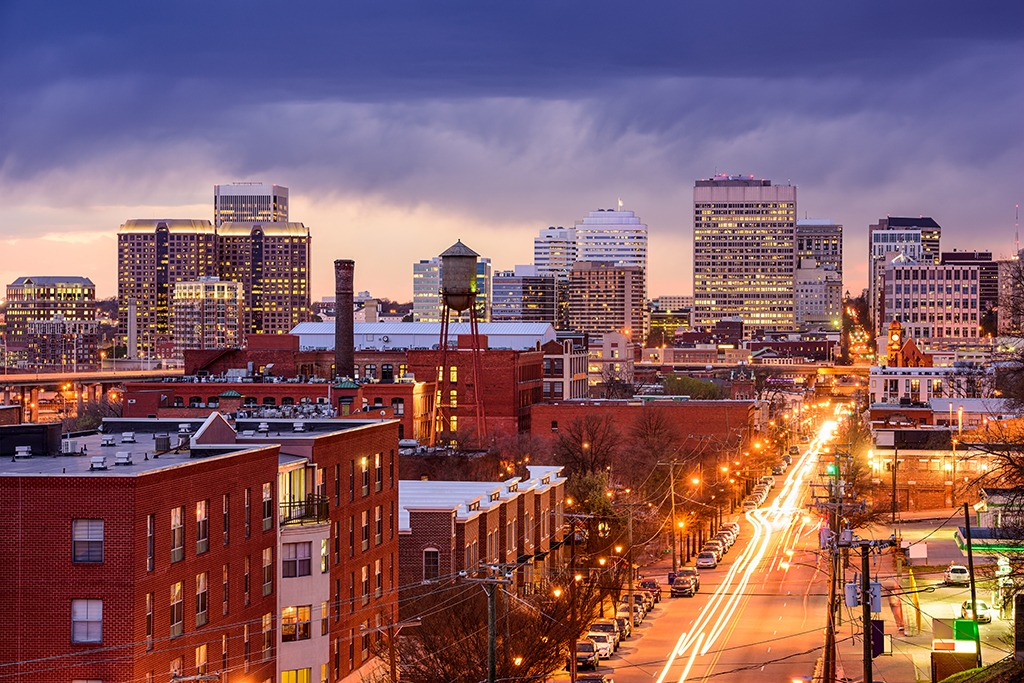 View of Main Street in Richmond Virginia